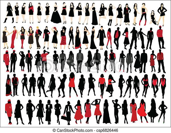 Moda de mujer y hombre - csp6826446