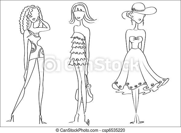Mujer modelos diseo de la manera whitevector ropa