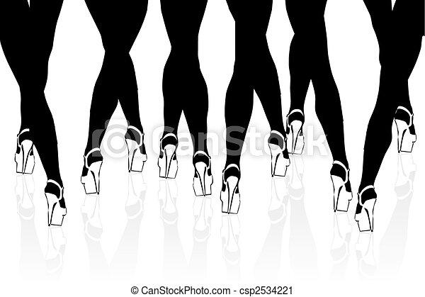 piernas de mujer - csp2534221