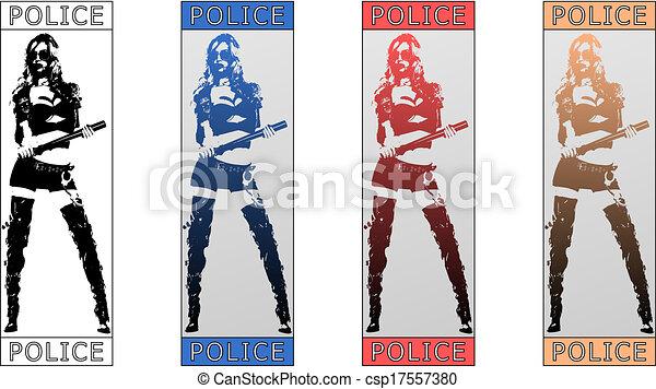 Mujer policía - csp17557380