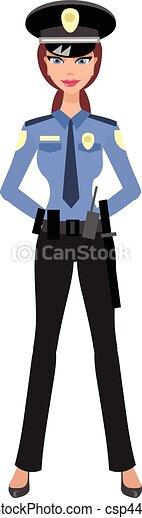 Mujer policía - csp44847648