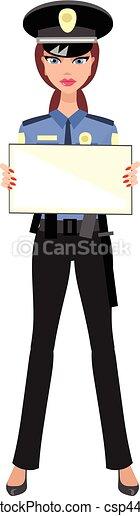 Mujer policía - csp44847847