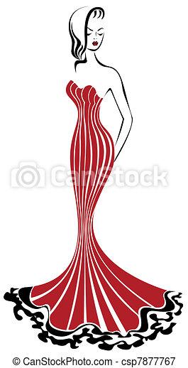 Mujer de rojo - csp7877767