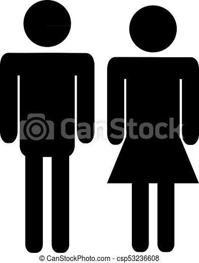 Mujer Símbolo Gráfico Hombre
