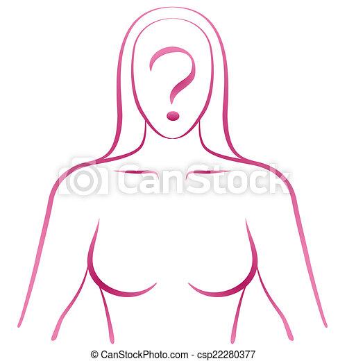 Mujer interrogante - csp22280377