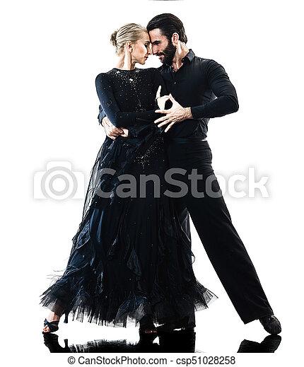 Mujer pareja de baile de salón bailarín de salsa bailarín bailarín - csp51028258