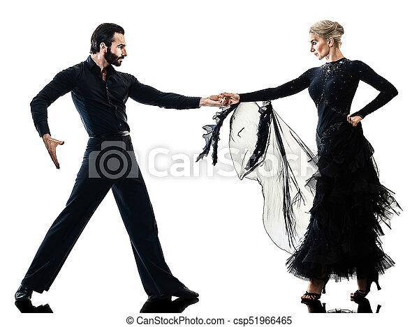 Mujer pareja de baile de salón bailarín de salsa bailarín bailarín - csp51966465