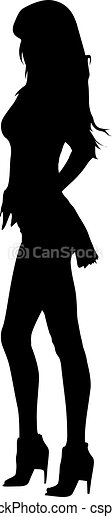 Mujer silueta - csp34506050
