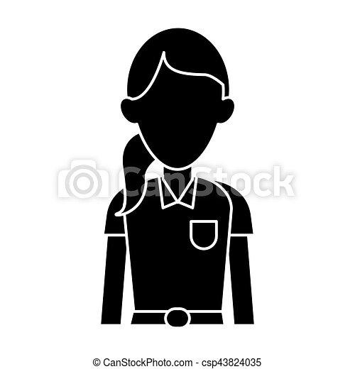 mujer, silueta, emergencia, trabajador del hospital, paramédico