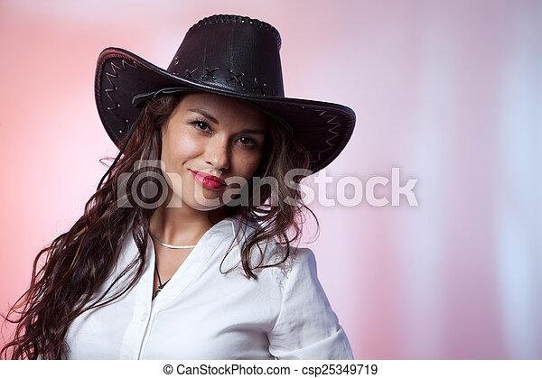 calidad confiable buscar sección especial mujer, sombrero, vaquero