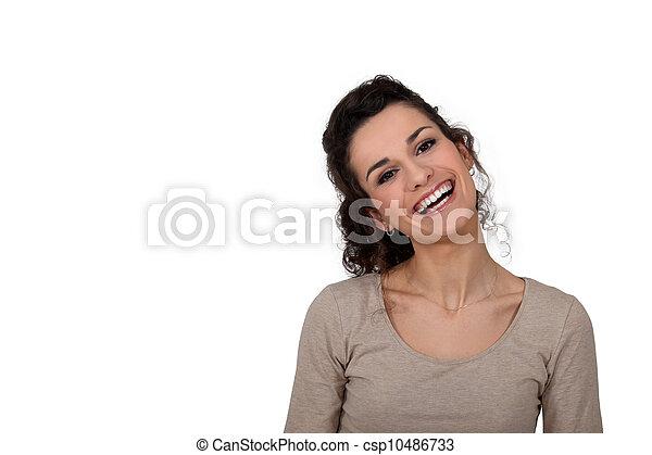 Mujer sonriente - csp10486733