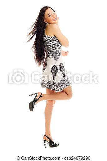 Mujer sonriente - csp24679290