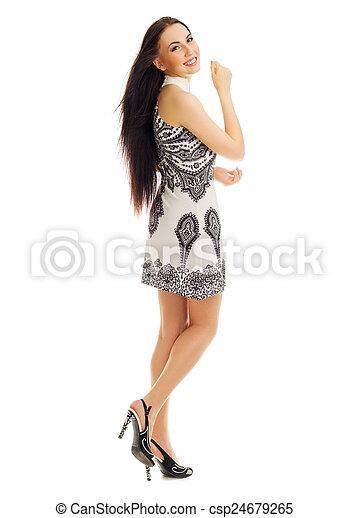 Mujer sonriente - csp24679265