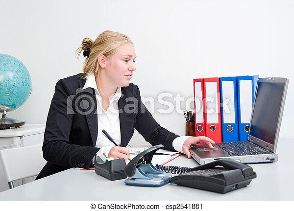 Mujer de negocios en el trabajo - csp2541881