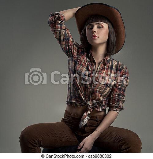 100% Calidad último estilo de 2019 material seleccionado mujer, vaquero, imagen, norteamericano, sexy, sombrero