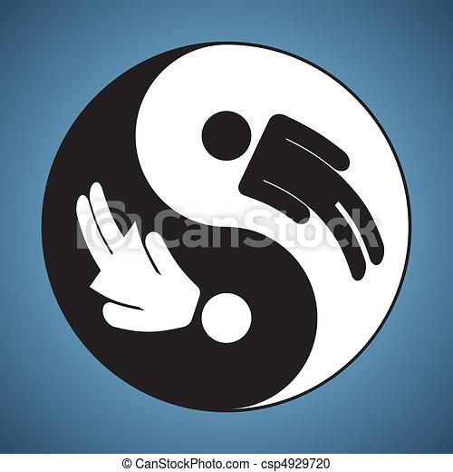 Yin y yang, hombre y mujer - csp4929720