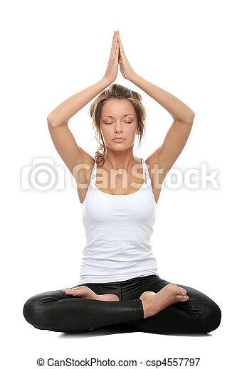 mujer haciendo yoga mujer haciendo pose de yoga  pose
