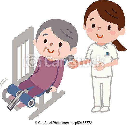 Mujeres mayores haciendo ejercicio - csp59458772