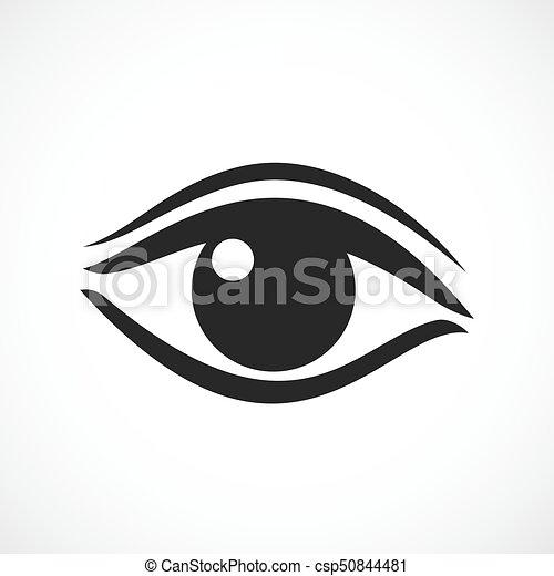El icono de vector de ojos femenino - csp50844481