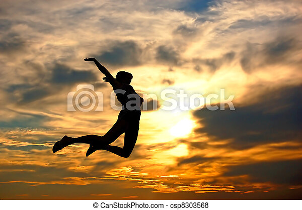 mulher, amor, dela, mostrando, world!, felicidade - csp8303568