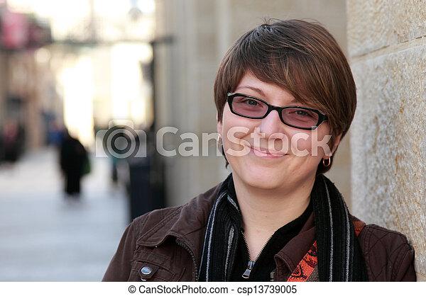 mulher bonita, antigas, 30, anos, retrato - csp13739005