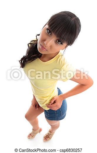 mulher bonita, casual, jovem - csp6830257
