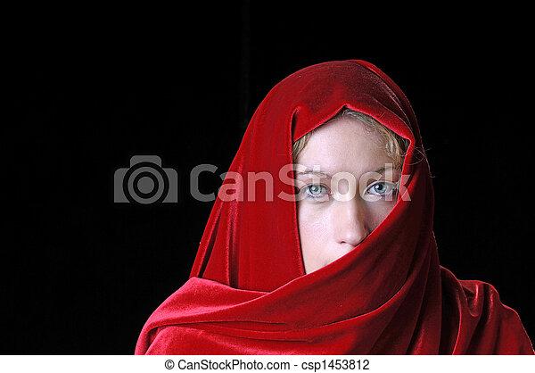mulher bonita, closeup, jovem - csp1453812