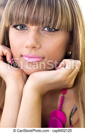 mulher bonita, jovem - csp9402120