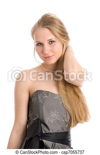 mulher bonita, loura - csp7055737