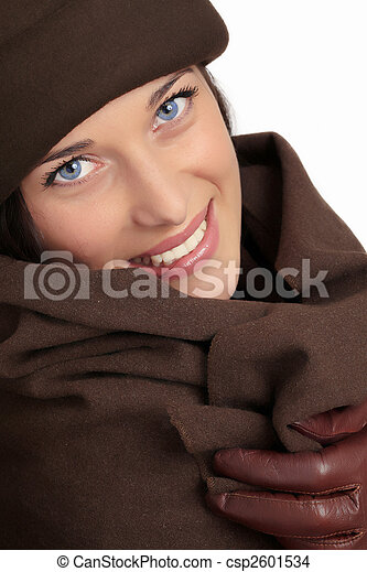 mulher bonita, moda, inverno - csp2601534