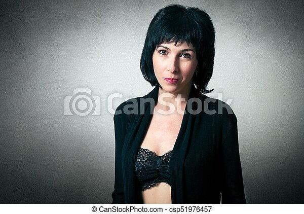mulher bonita, moda, soutien - csp51976457