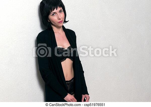 mulher bonita, moda, soutien - csp51976551