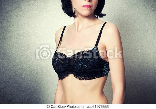 mulher bonita, moda, soutien - csp51976558