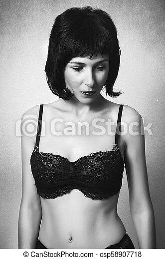 mulher bonita, moda, soutien - csp58907718