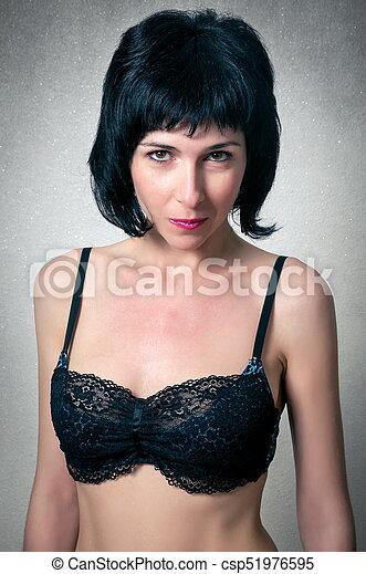 mulher bonita, moda, soutien - csp51976595