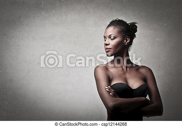 mulher bonita, pretas - csp12144268