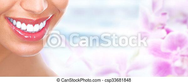 mulher bonita, smile. - csp33681848