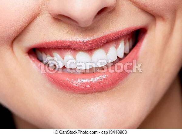 mulher bonita, smile. - csp13418903