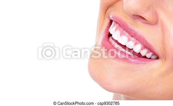 mulher bonita, smile. - csp9302785
