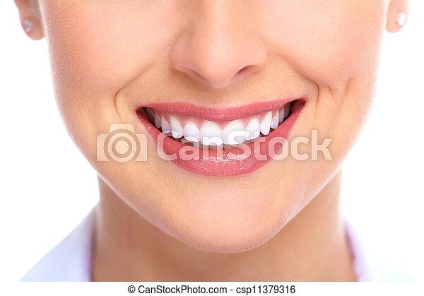 mulher bonita, smile. - csp11379316