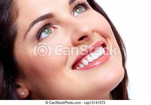 mulher bonita, smile. - csp13141073