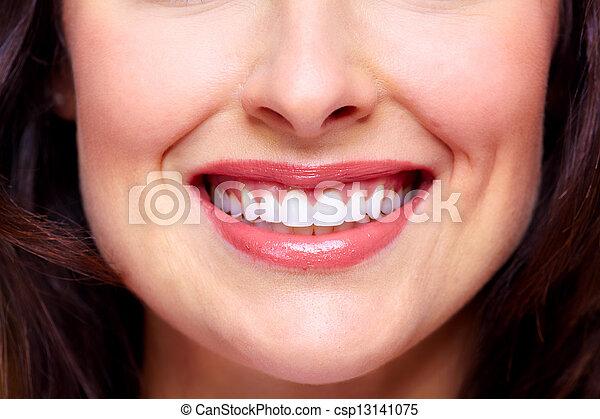 mulher bonita, smile. - csp13141075