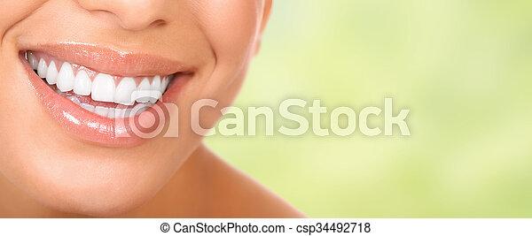 mulher bonita, smile. - csp34492718