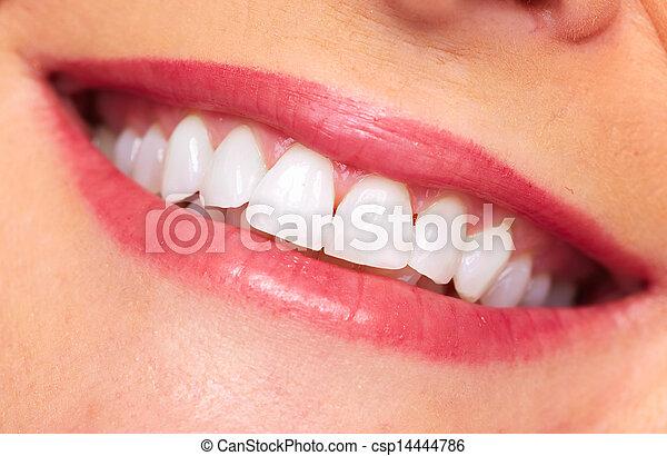 mulher bonita, smile. - csp14444786