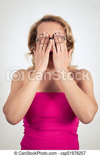 mulher bonita, vestido, loura - csp51976257