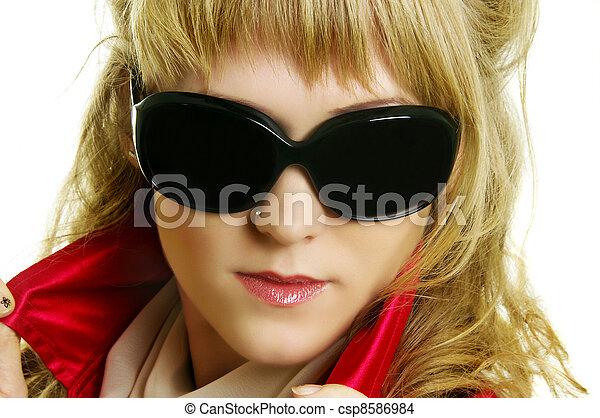mulher, bonito - csp8586984