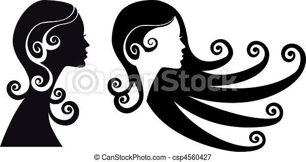 mulher, cabeças - csp4560427
