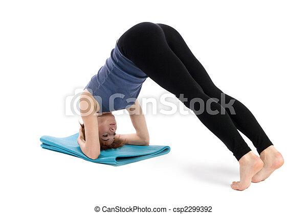 mulher, condicão física - csp2299392