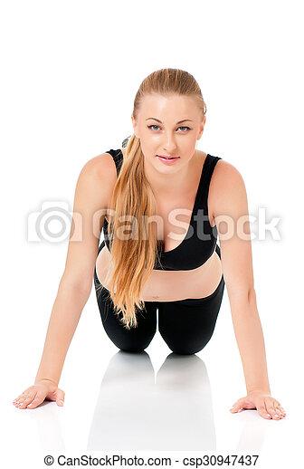 mulher, condicão física - csp30947437