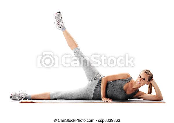 mulher, condicão física - csp8339363